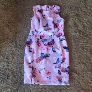 Calvin Klein  fitted floral dress
